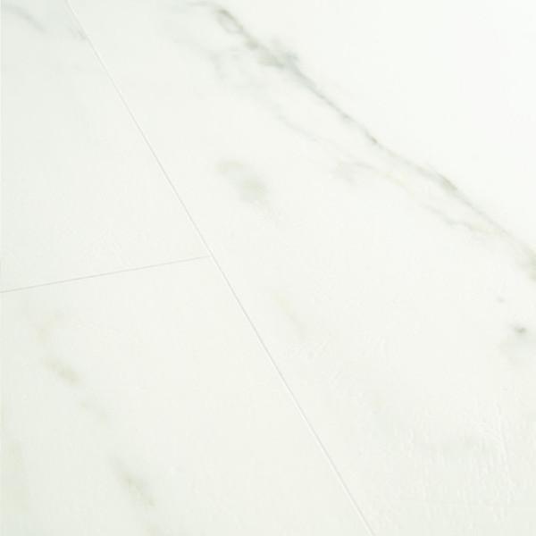 Klick Vinyl Boden Marmor Carrara weiss